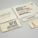 Tela Laser personalizado imprimindo etiquetas de algodão
