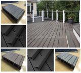 Decking composé en plastique en bois de fibre de panneaux solides en bois du PE WPC