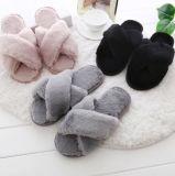 Fashion Woolen der Dame flache Unterseiten-Gleitschutzhefterzufuhren für Winter und Herbst