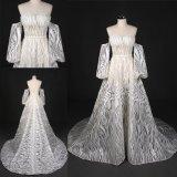 Zoll stellen lange Hülsen Großhandelsbrautkleid-Hochzeits-Kleid her