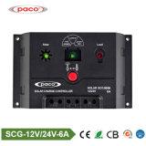 PWM- a contrôlé le contrôleur de charge de panneau solaire 12V/24V 6A avec l'USB