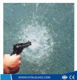 10.38mm 탄알 증거에 의하여 부드럽게 하는 박판으로 만들어진 유리 또는 공간 부유물 건물 유리