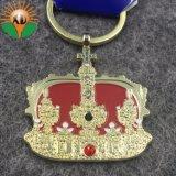 다이아몬드를 가진 선전용 선물 금속 금 크라운 열쇠 고리