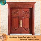 La mitad de Desheng columpio doble vidrio INTERIOR Puertas de madera de teca