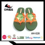 Diseño de Moda Flip Flop zapatillas con tejido de PE