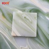 6mm grüner lichtdurchlässiger künstlicher fester Oberflächenwand-Stein