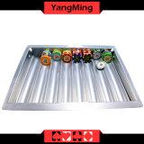 Bandeja dedicada de la viruta de póker del vector del póker de espárrago del casino de Macao de 8 filas del color de plata Ym-CT19