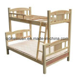 위와 더 낮은 사는 단단한 나무로 되는 2단 침대 높은 침대 룸 가구 (M-X2422)