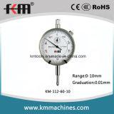 Haute qualité 0-10mm comparateur à cadran avec graduation 0.01mm