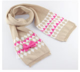 Reeks van de Sjaal van de Hoed van de Dekking van de Tik van de Handschoenen van de Sjaal POM Beanie van de Draai POM van de Kabel van de Winter van de Meisjes van de Kinderen van de Baby van jonge geitjes de Unisex-3PC Lange (SK404S)