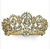 2018 Mariage de la Couronne de cristal personnalisé Rhinestone Tiaras couronne nuptiale (TA-001)