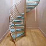 나선형 계단 실내 옥외 나선형 유리제 디자인