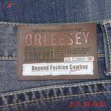 Custom джинсы PU Label тиснение для одежды