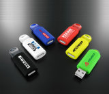 Bavure en plastique USB de ressort de disque de flash USB de ressort bon marché promotionnel