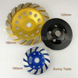 5 인치 다이아몬드 구체적인 분쇄기를 위한 가는 컵 바퀴