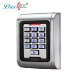 programa de lectura puesto a contraluz sola puerta del telclado numérico del metal de la proximidad RFID de la tarjeta 125kHz