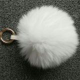 선전용 실제적인 Fox 모피 공 모피 자동 고사포 모자 귀여운 Keychain