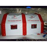 緊急時の救急処置のための膨脹可能な病院のテント
