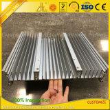 Constructeurs en aluminium fournissant le radiateur plat d'extrusion en aluminium industrielle