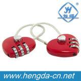 Yh1632 voyageant de bagages sur le fil câble valise coeur Cadenas Cadenas
