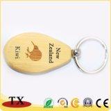 Heiße verkaufenbuche-hölzerne Schlüsselkette mit graviertem Firmenzeichen für fördernde Geschenke