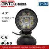 Offroad ronda e IP67-MARK Epistar luz LED de trabajo para el coche (GT2009-27W)
