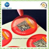 Etiquetas da cor da etiqueta adesiva de prata brilhante do lustro únicas (jp-s155)
