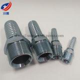 13011 guarnición hidráulica recta roscada masculina de la instalación de tuberías de la guarnición de manguito de Bsp que ajusta BSPT