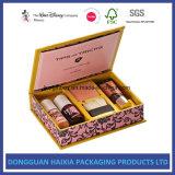 Caja de cartón rígida modificada para requisitos particulares de la cubierta para los regalos de los cosméticos del perfume