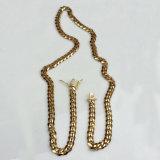 18K de gouden Halsband Mjcn056 van de Ketens van de Link van de Greep van de Diamant Cubaanse