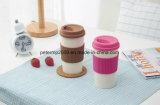 シリコーンのホールダーおよびふたが付いている16ozプラントムギのファイバーのコーヒーカップ