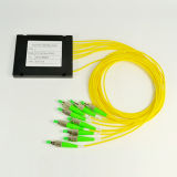 Un divisore di 1 x 8 del PLC ottica delle fibre con il connettore di FC APC