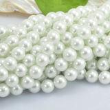 Perlas de perlas de vidrio con orificio para joyería