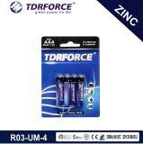 1.5V Batterie zinc-carbone R03-AAA-Um4 Heavy Duty de commande à distance