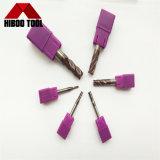 Moinho de extremidade quadrado deOposição do carboneto da ceia com revestimento violeta