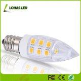 LED C7 밤 일반 점화를 위한 전구 2W (15W 백열 동등물) 온난한 백색 (3000K) E12 LED 전구