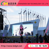 La publicidad a todo color exterior P6mm Led video wall para instalación fija