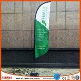 Выдвиженческий рекламируя флаг пера случая выставки Windproof напольный