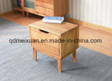 純木のベッドのカシの角質の避難所の単一の引出しの枕元のロッカー(M-X3135