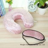 Viajando Latex travesseiro em forma de U & Eye Mask fornecedor Chinês