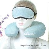 Viajar en forma de almohada de látex U & Eye Mask proveedor chino