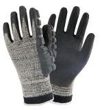 Нитриловые покрытием Ударопрочный механические работы перчатки для работы с молотком с помощью