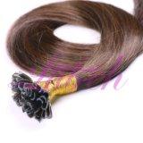 Machine faite U Astuce Remy Hair Extensions naturelles 100pcs droites/Set