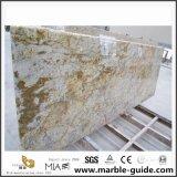 China Barato Verde/Branco/Preto/Cinza/bege/Ilha de cozinha de granito de pedra castanha
