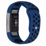 Gli sport caldi di vendita si raddoppiano cinturino del silicone di colori per la carica 2 di Fitbit