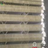 Lamiera di acciaio rivestita galvanizzata Rockwool/comitato di parete del panino lane di vetro
