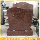 Headstone dritto del monumento rosso del granito da vendere