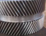 Módulo de grande el doble de la rueda de engranaje helicoidal, industria del cemento utilizado en la caja de engranajes