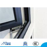 Finestra esterna di alluminio della stoffa per tendine di apertura con il doppio vetro temperato