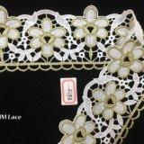 bande crème de lacet d'or de cru de 8cm Asstd pour la décoration, le DIY, le modèle floral et les métiers Hme810